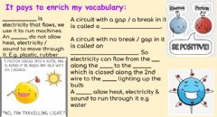 Interactive worksheet Electricity