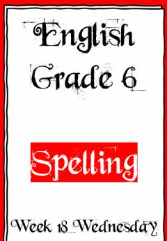 Interactive worksheet Week 18 - Wednesday - Spelling 6