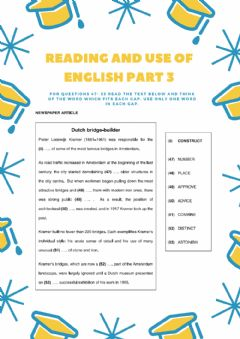 Interactive worksheet Reading and Use of english Part 3 CAE - 1