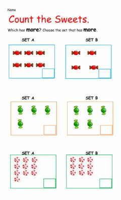 Interactive worksheet Comparing Sets - More