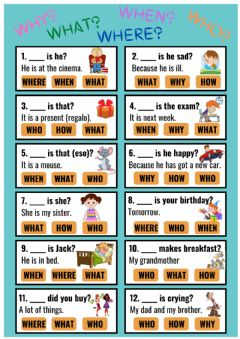 Ficha interactiva WH-question words