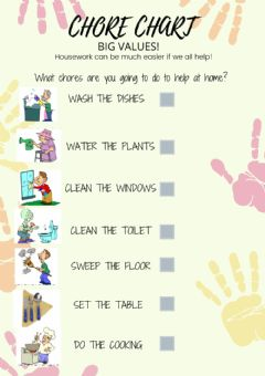 Interactive worksheet Chores chart
