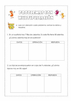 Interactive worksheet Problema con multiplicación