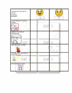 Interactive worksheet Rules Rubric