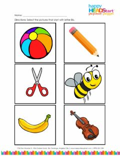 Interactive worksheet Letter Bb