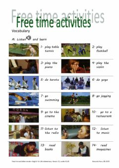Ficha interactiva free time activities-English for life-13