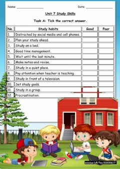 Interactive worksheet 7 Study Skills