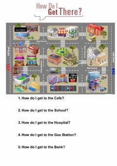 Interactive worksheet How do i get to....?