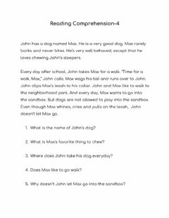 Interactive worksheet Reading Comprehension-4