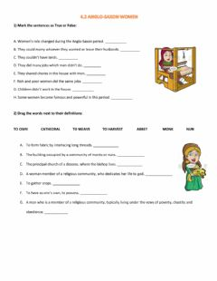 Interactive worksheet Anglo Saxon Women