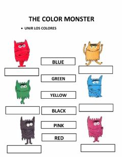 Ficha interactiva Color monster
