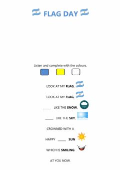 Interactive worksheet Flag day