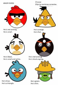 Interactive worksheet Angry birds