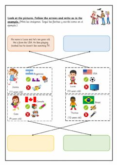 Interactive worksheet Personal Information - EXTRA 4th
