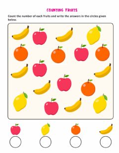 Interactive worksheet Counting fruit