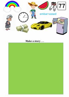 Interactive worksheet Writing- make a story based on pictures