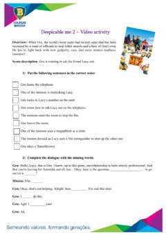 Interactive worksheet Despicable me - video activity