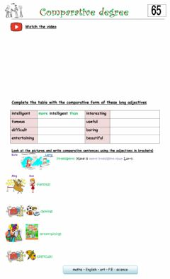 Interactive worksheet 5° 65