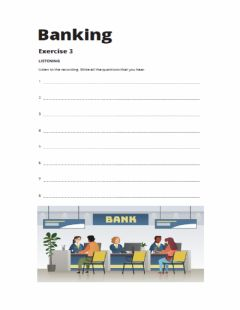 Interactive worksheet Banking 3