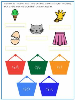 Interactive worksheet Le sillabe della G