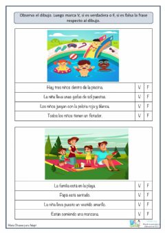 Interactive worksheet Verdadero o falso