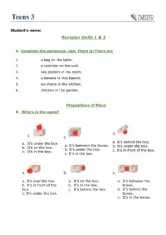 Interactive worksheet Revision Units 1 & 2 Beyond A2