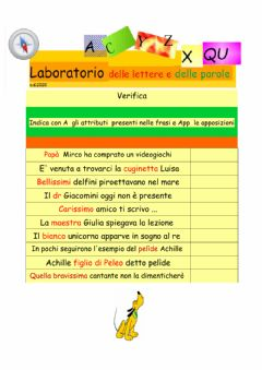 Interactive worksheet Attributi e apposizione