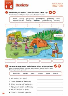 Interactive worksheet New English Adventure - Review