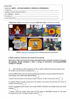 Interactive worksheet Nuclear energy, past perferct, cobnnectors