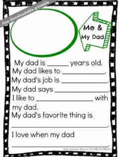 Interactive worksheet Fathers day