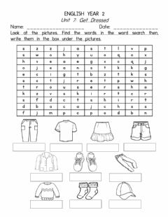 Interactive worksheet Unit 7 Get Dressed