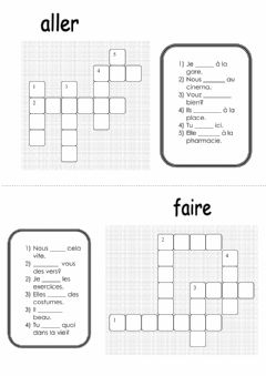 Interactive worksheet Verbe aller et faire