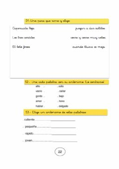 Interactive worksheet Rimas y antónimos