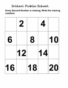 Ficha interactiva Missing numbers 1 to 20