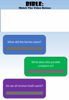 Interactive worksheet WEEK 19: WEDNESDAY: Farmer Parable