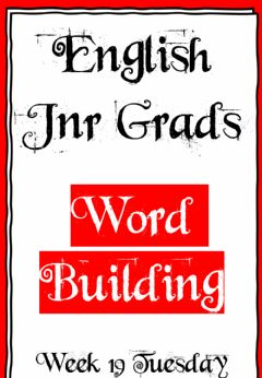 Interactive worksheet Week 19 - Word Building