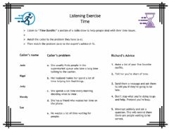 Ficha interactiva Listening exercise on time