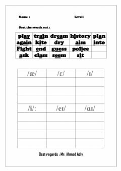 Interactive worksheet Pronunciation