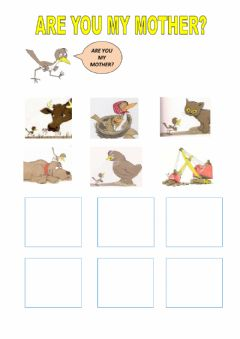 Interactive worksheet Are you my mother?