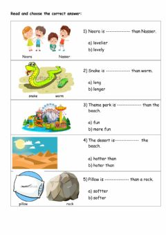Interactive worksheet Comparative Adjective