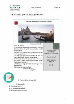 Interactive worksheet Irakurmena postala
