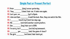 Interactive worksheet Simple Past or Present Perfect