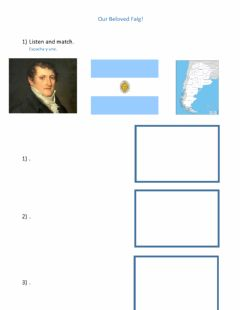 Interactive worksheet My flag and creator