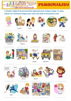 Interactive worksheet Personality A2+