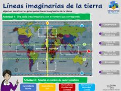Interactive worksheet Líneas imaginaria de la tierra