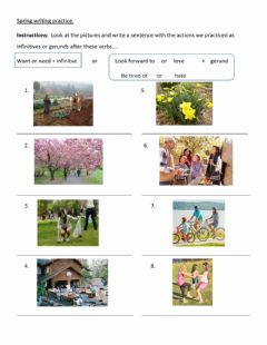 Interactive worksheet Spring