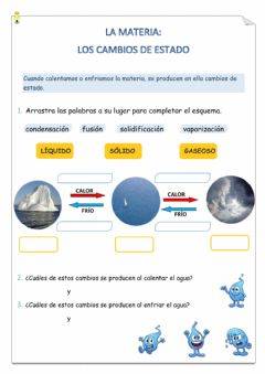 Interactive worksheet Cambios de estado