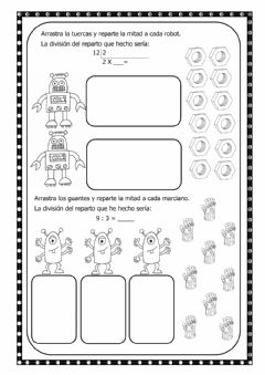 Interactive worksheet Reparto-División