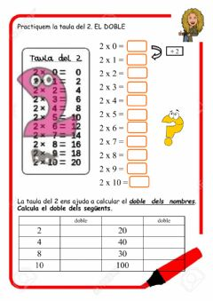 Interactive worksheet La taula deL 2