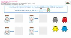 Interactive worksheet Emociones monstruo1